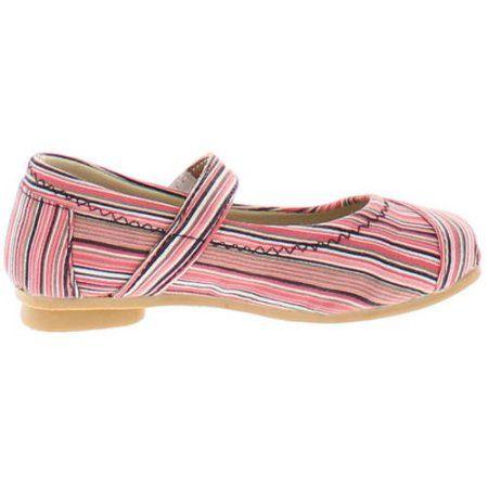 Shoes of Soul Toddler Girls' Stripe Flat Shoe, Toddler Girl's, Size: 5, Pink