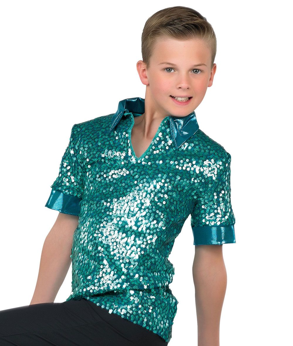750639a59 17779 - Matte Sequin Guy Shirt colors: 52 Red, 53 Royal, 57 Purple, 59  Blush, 74 Navy, 76 Jade by A Wish Come True