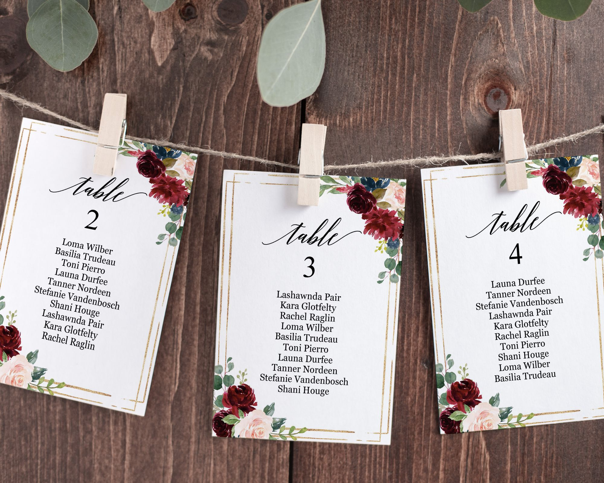Burgundy Floral Wedding Seating Chart Template Editable 4x6 Etsy Seating Chart Wedding Template Seating Chart Wedding Printable Bridal Shower Games