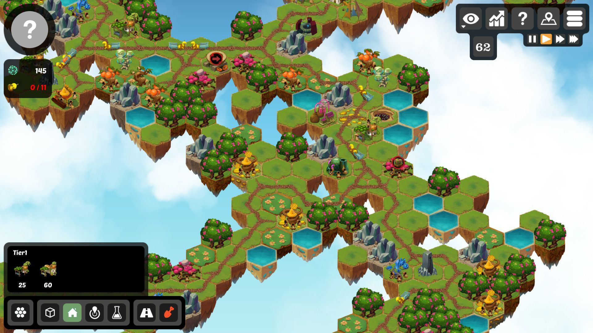 Volantia is a casual city builder with light resource