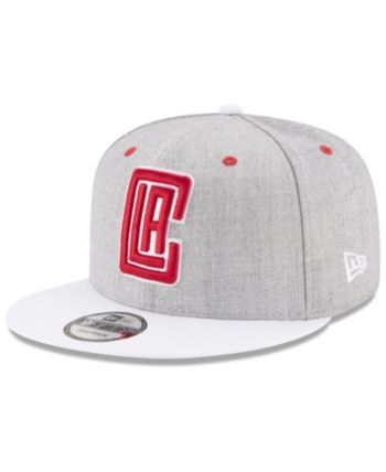 buy online 657cc 591bc New Era Los Angeles Clippers White Vize 9FIFTY Snapback Cap - Gray White  Adjustable