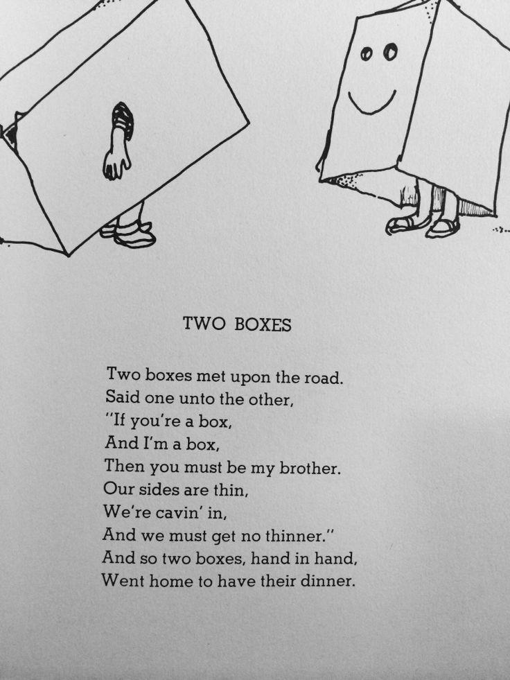 Shel Silverstein - Two Boxes   Poems   Pinterest   Shel ...