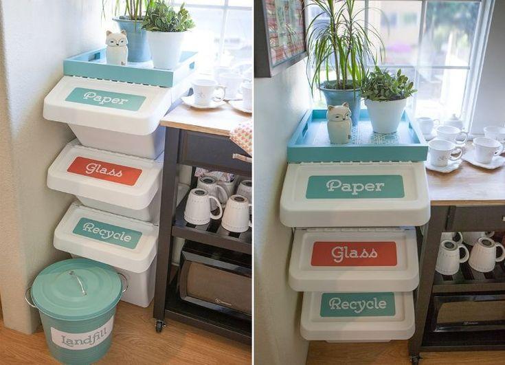 Halten Sie Den Mulleimer Ausser Sicht Moderne Ideen Fur Ihre K Halten Ideen Moderne Mulleime Modern Kitchen Trash Cans Kitchen Trash Cans Pantry Redo