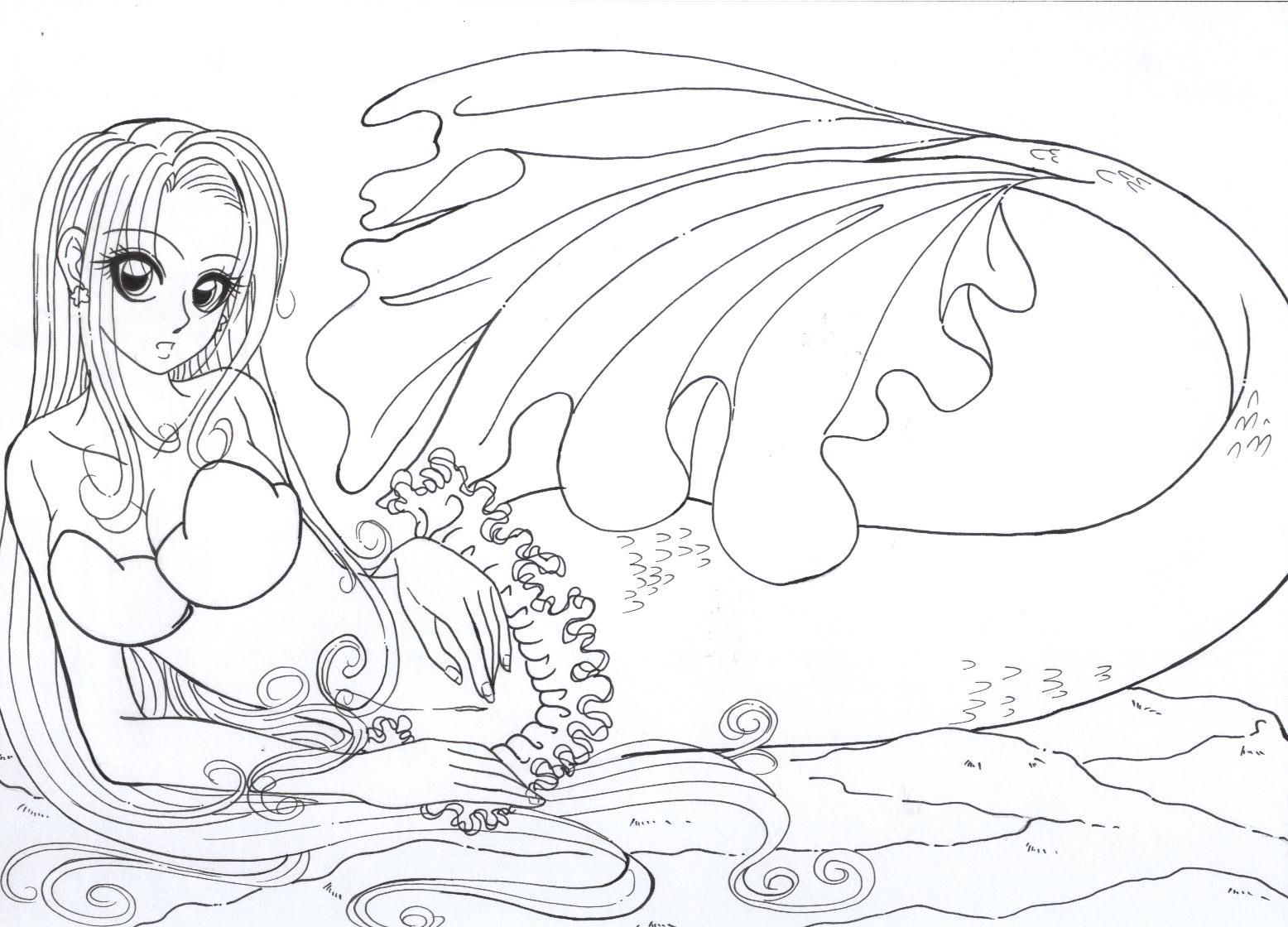 pretty witch mermaid coloring pages yahoo image search results