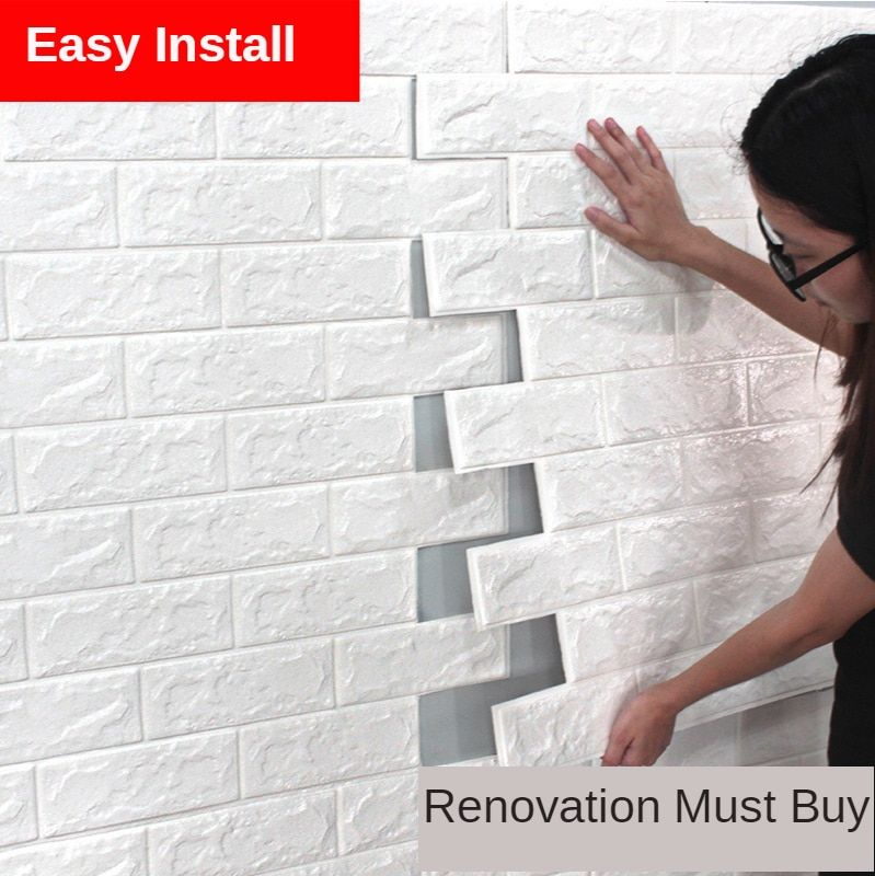 3d Wall Foam Brick Wallpapers Self Adhesive Wall Sticker Background Wall Decoration Anti Collision Antifouling Anti Water Wall Fabric Textile Wallcoverings Fake Brick Wall Wall Stickers Brick Brick Wall Bedroom