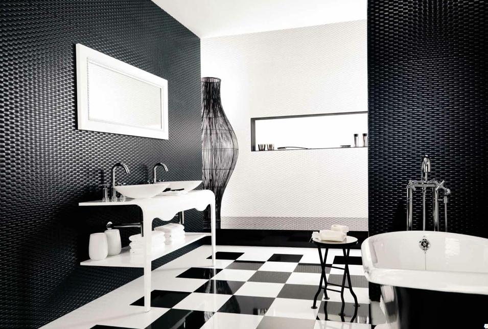 black and white bathroom floor tiles decor ideasdecor ideas tile ...