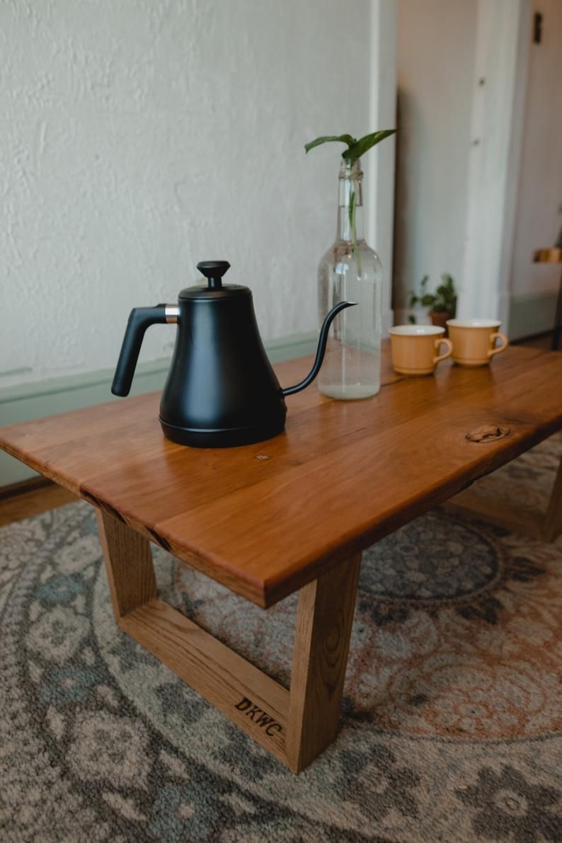 Del mar coffee tea table japanese low table cherry oak