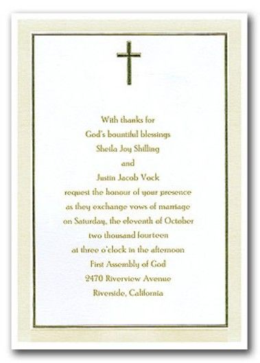 Christian wedding invitations wording wedding ideas Pinterest