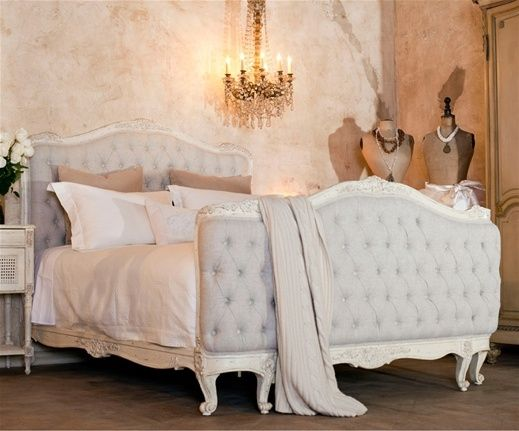 Design Chic - beautiful bedroom - love the tufted bed Beautiful