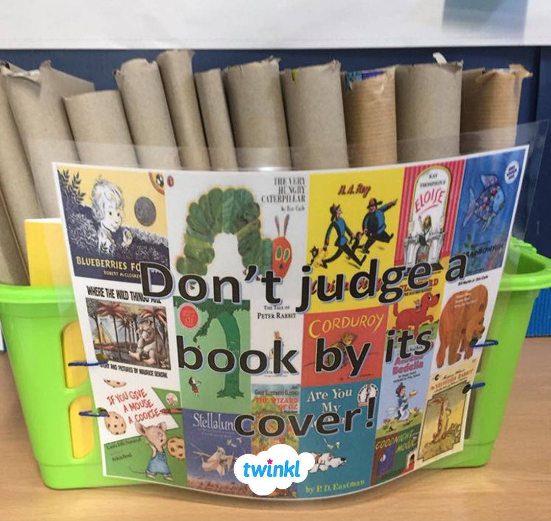 Don T Judge A Book By Its Cover Activity Cover Books In