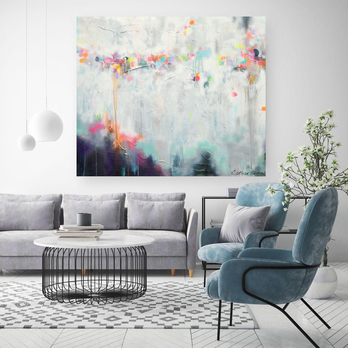 Abstract Schilderij Art Esther Gemser Www Esthergemser Com Muur Kunst Woonkamer Woonkamer Schilderijen Rustiek Schilderij