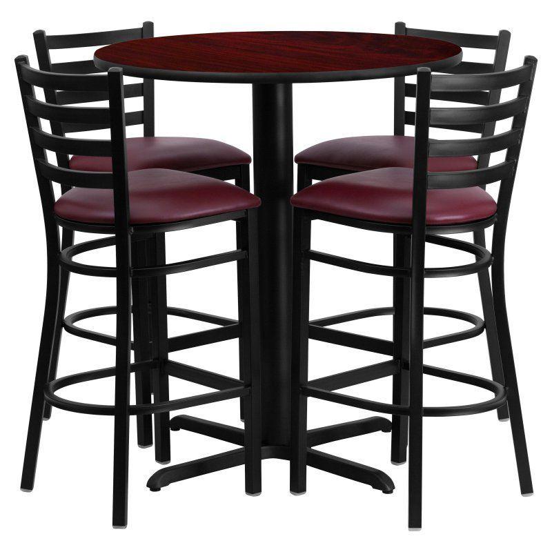 New Black Metal Bar Table