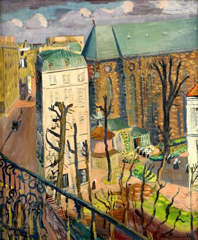 Isaac Grünewald, Paysage (le couvent). Isaac Grünewald was a Swedish-Jewish expressionist painter born in Stockholm. He was the leading and central name in the first generation of Swedish modernists from 1910 up until his death in 1946.