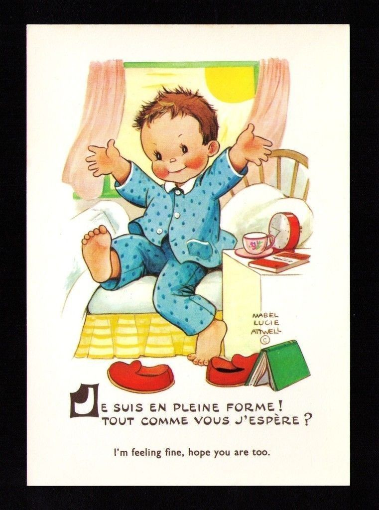 Carte Illustrateur Mabel Lucie Attwell JE Suis EN Pleine Forme ...