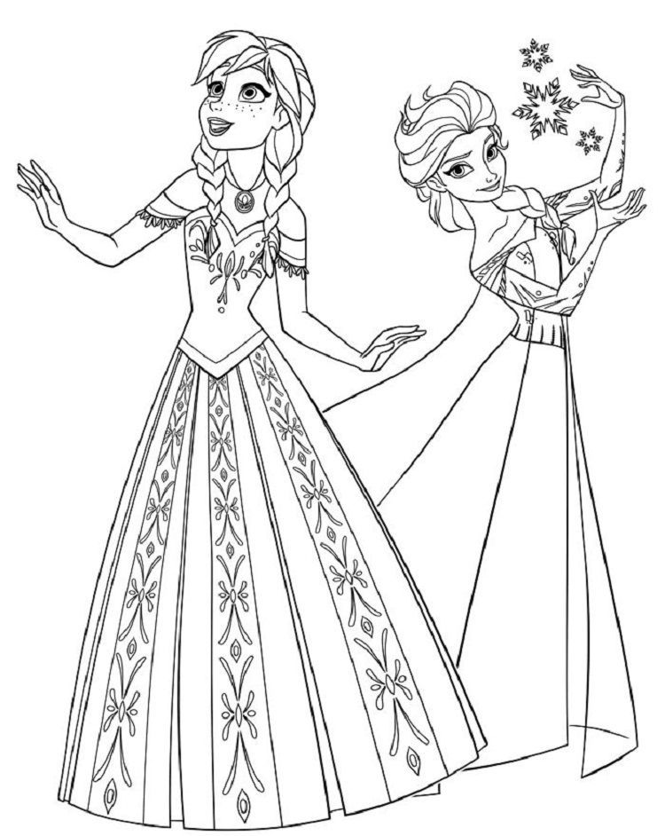 Frozen Coloring Pages A4 Printable Disney Princess Coloring Pages Elsa Coloring Pages Princess Coloring Pages