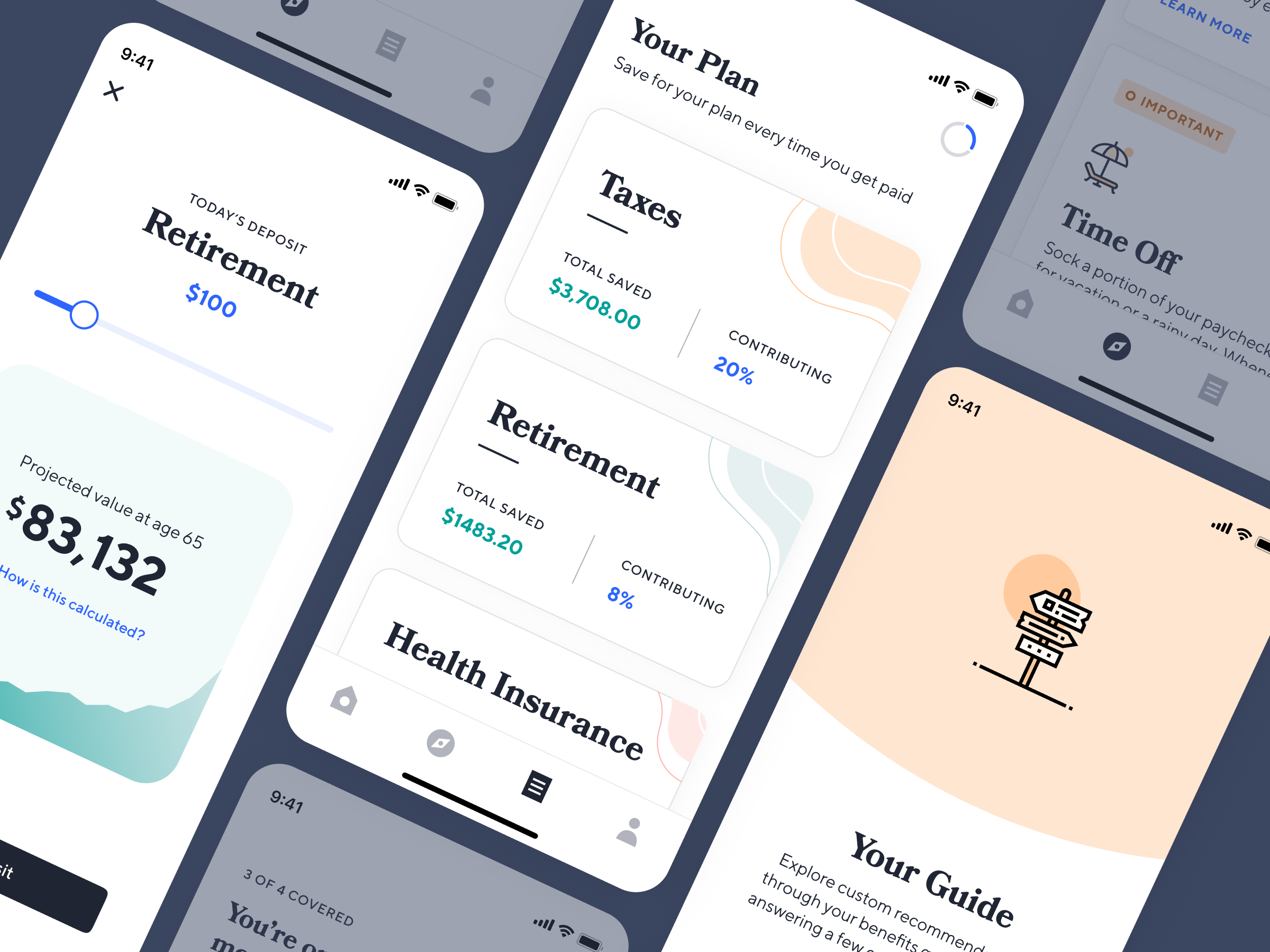 Dribbble Catch Dribbble Debut Png By Catch Health Insurance Retirement Savings Plan App Design