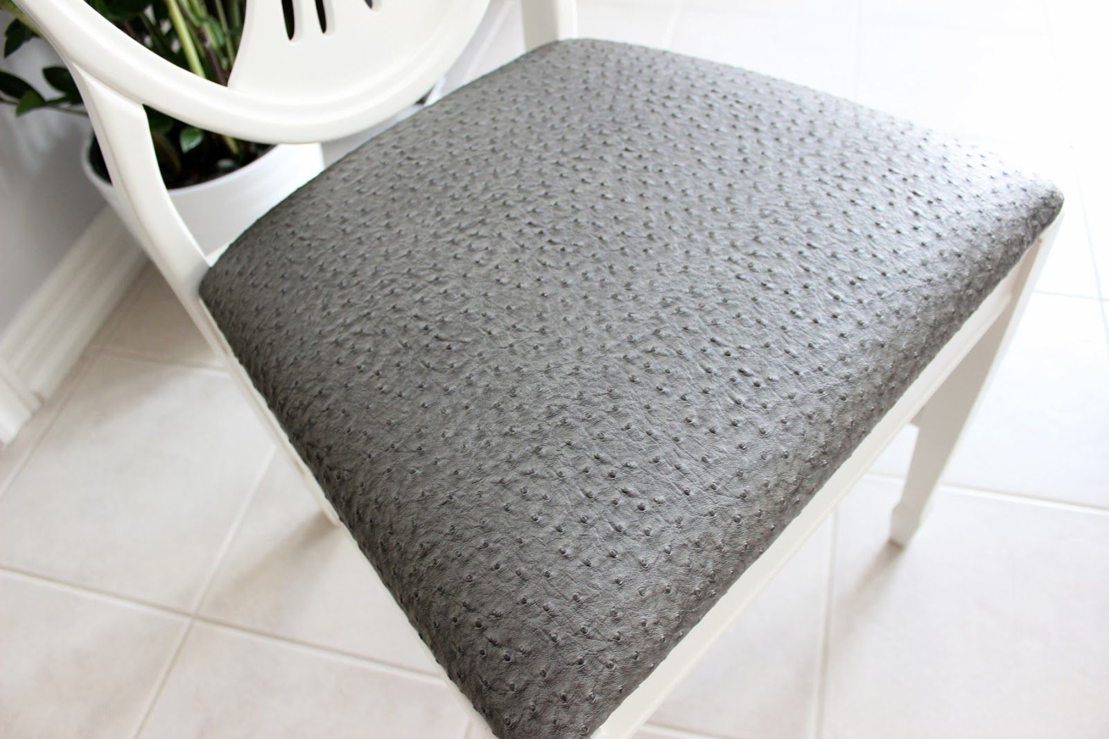 AM Dolce Vita: Antique Shield Back Chair Transformation, Faux Ostrich  Upholstery Fabric, Faux Ostrich Vinyl