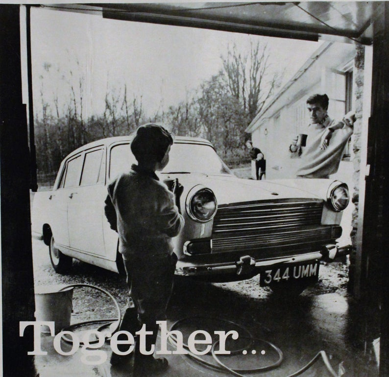 1960 British Morris Oxford Car Ad Wall Art Home Decor | Etsy
