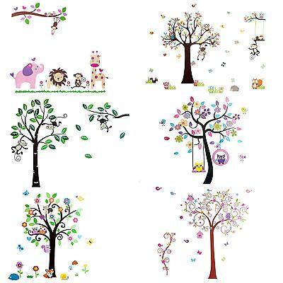 Wandtattoo Wall Sticker Wandsticker XXL Deko Kinder Affe Spiel Kinderzimmer Eule