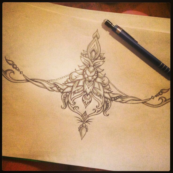 Great design for a chest tattoo.