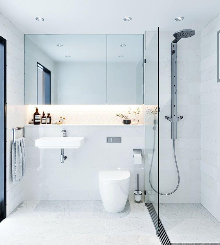 salle de bain déco minimaliste et idée de peinture blanche avec