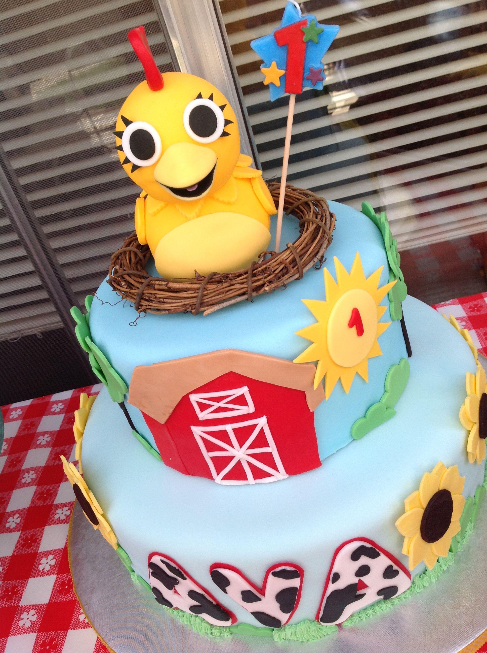 Chica Birthday Cake 1st Bday Pinterest