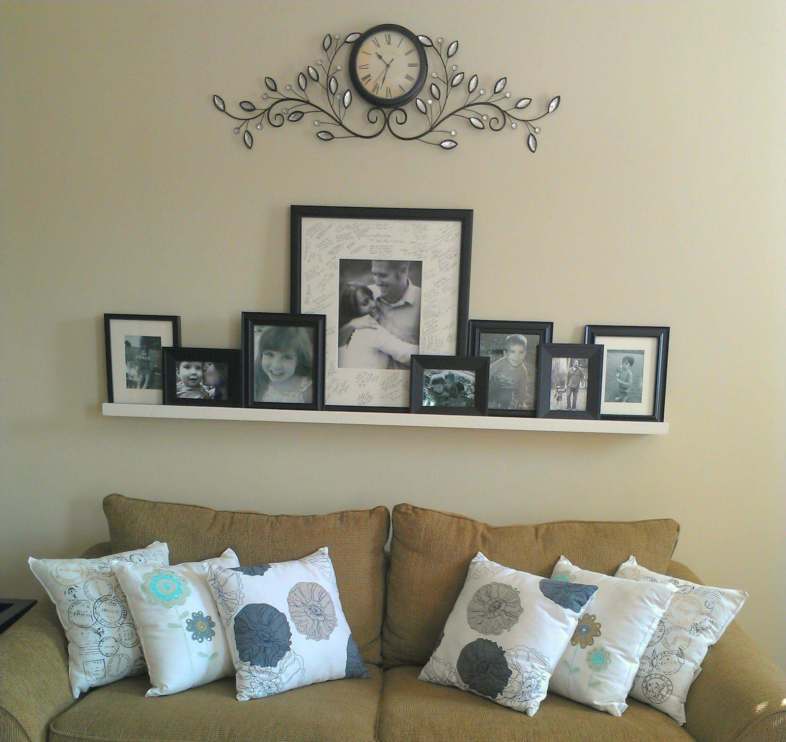 Diy Photo Ledge, Black Frames And B Prints From Cvs