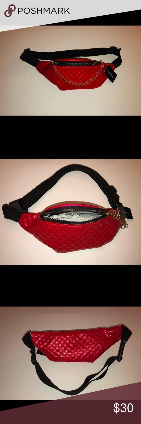 Belt Bag NWT Belt bag, Red quilts, Bags