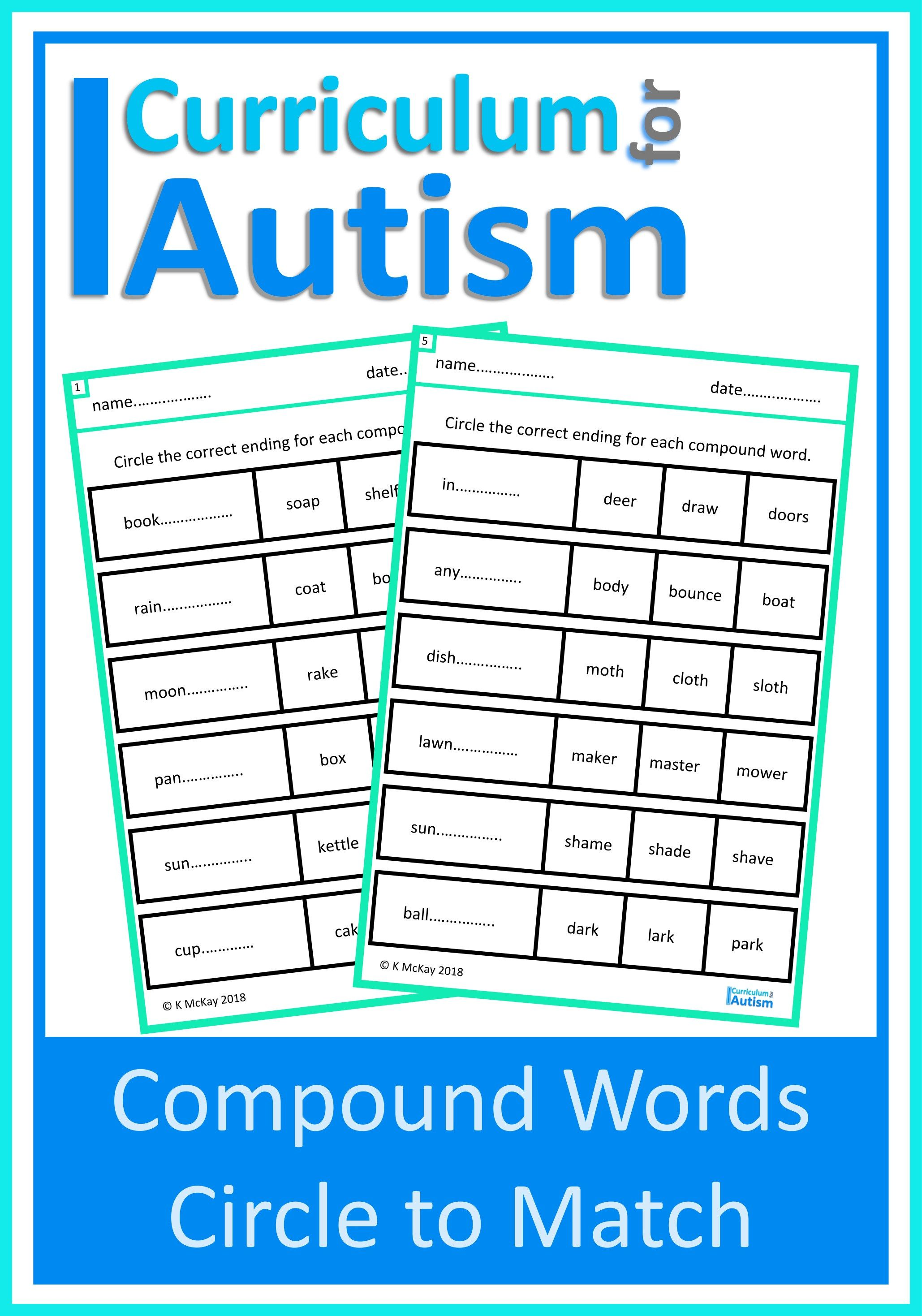 Compound Words Match Worksheets