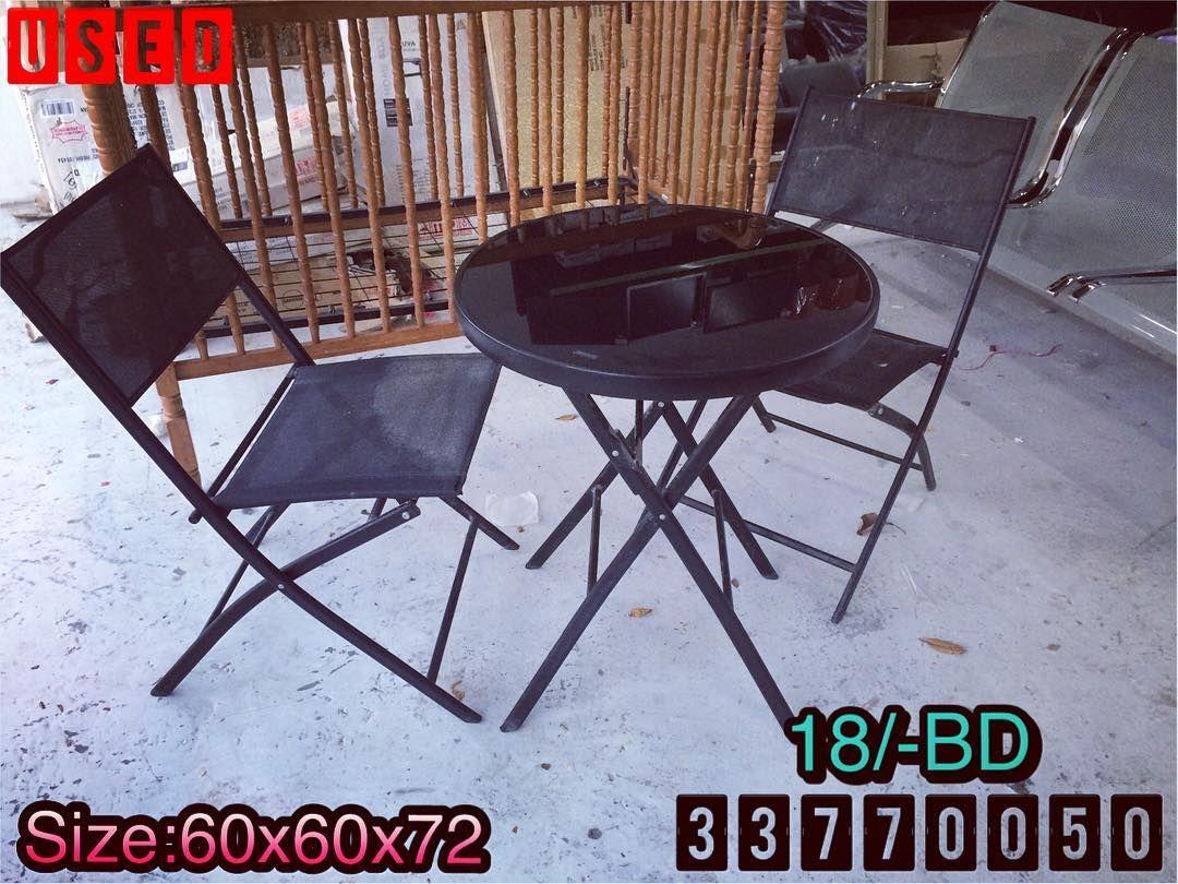 For Sale Garden Table Size 60x60x72 With 2 Chair Excellent Condition Price 18 Bd للبيع طاولة حديقة مع كرسين لون اخضر Folding Chair Home Decor Chair