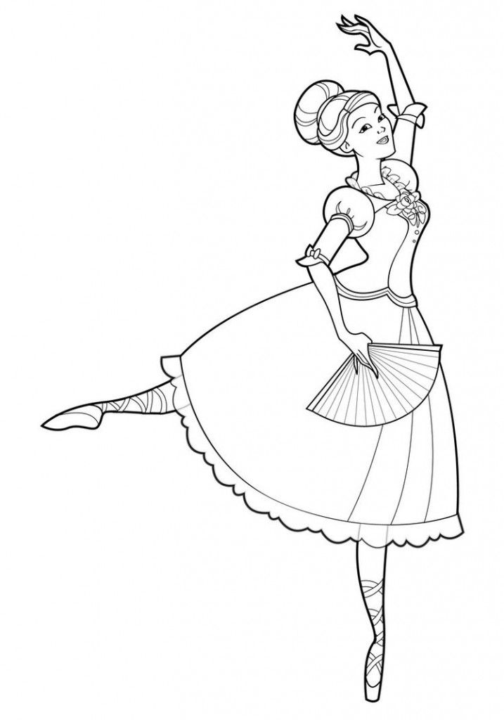 Free Printable Ballet Coloring Pages For Kids | Malvorlage
