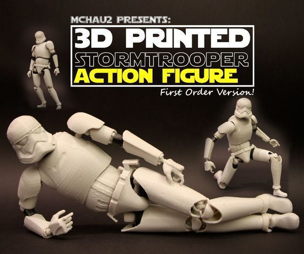 3D printed StormTrooper Action figure! (Realistic