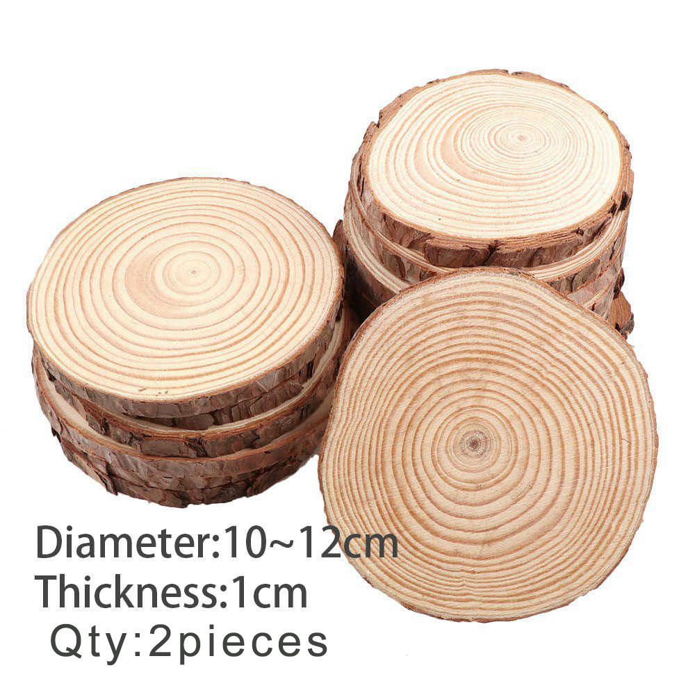Online Shop 10pc Natural Round Wood Slices Circles Diy Wood Crafts For Wedding Party Table Number Cards Decor Diy K Wood Crafts Diy Unfinished Wood Wood Slices