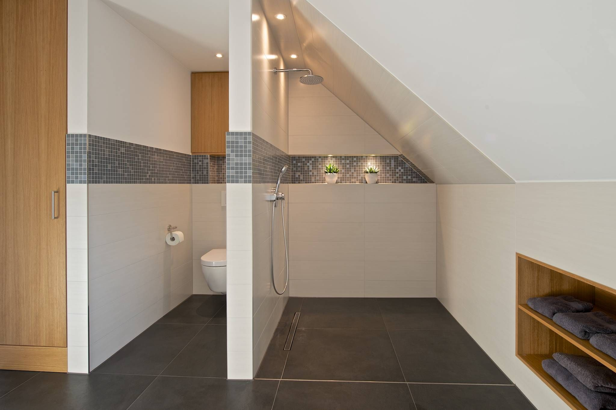 Duschbereich Im Vollbad Moderne Badezimmer Von Homify Modern Badezimmer Dachschrage Badezimmer Dachgeschoss Und Badezimmer