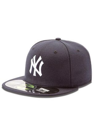 Ny Yankees New Era Mens Navy Blue Ac 5950 Fitted Hat New York Yankees Apparel Yankees Yankees Hat