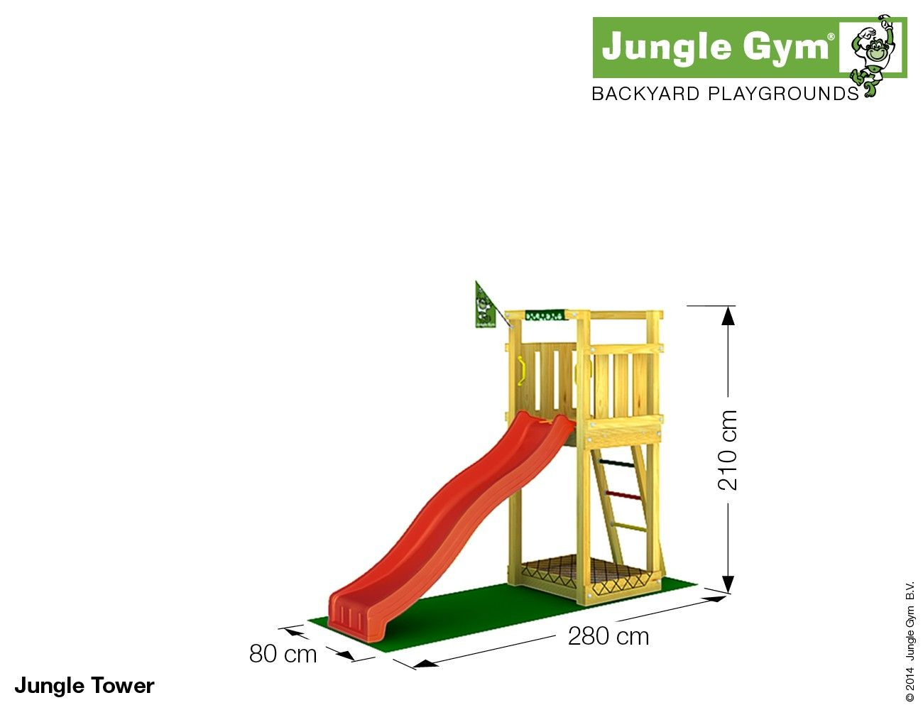 Climbing frames for small gardens - Jungle Tower | Kinders ...
