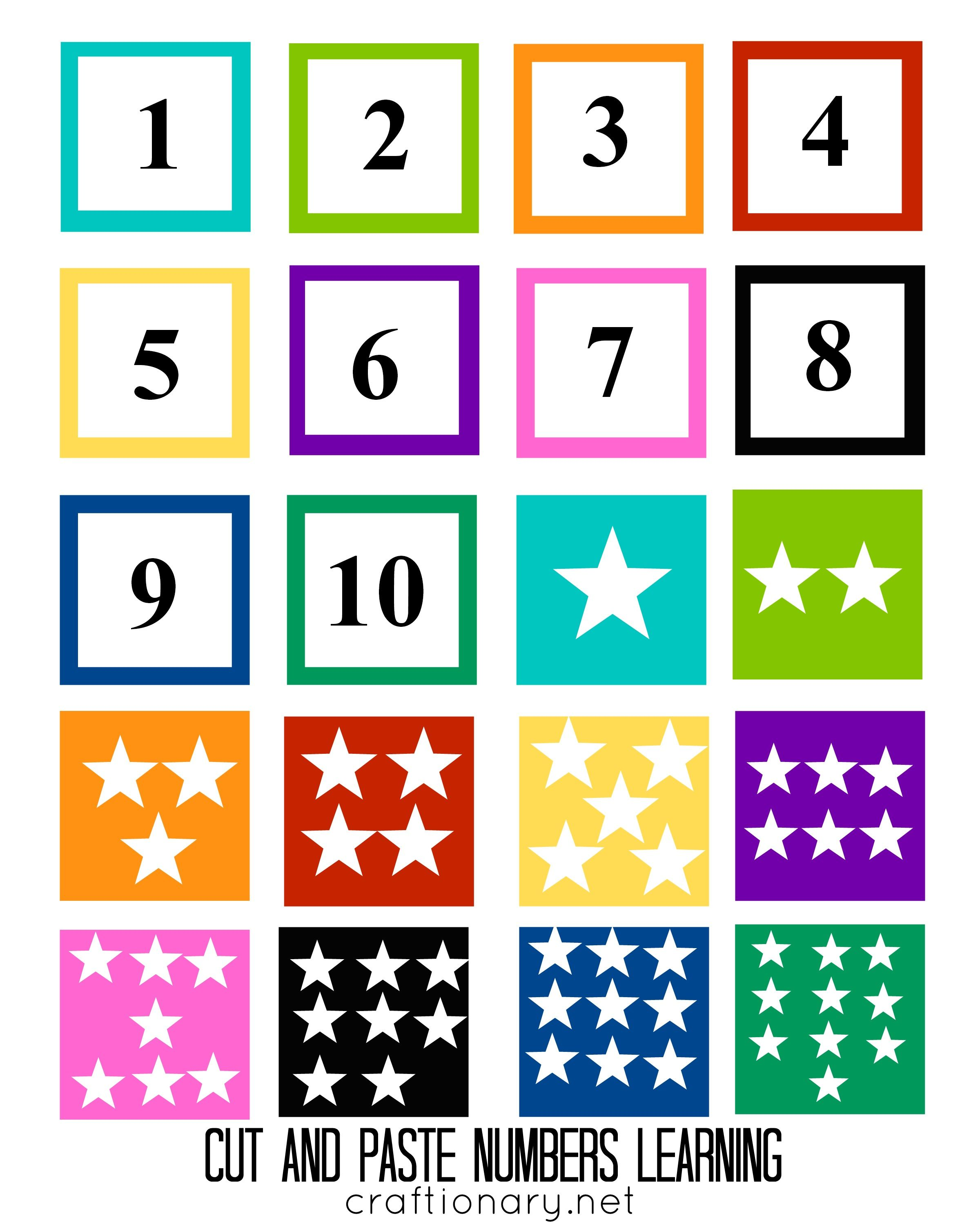 Number Matching Free Printable Cut And Paste