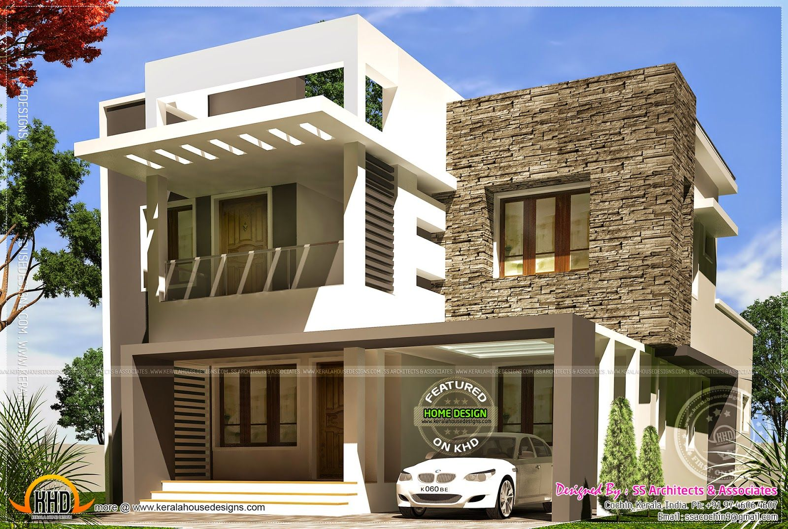 Small house front elevation for villa first floor total for Front house ideas