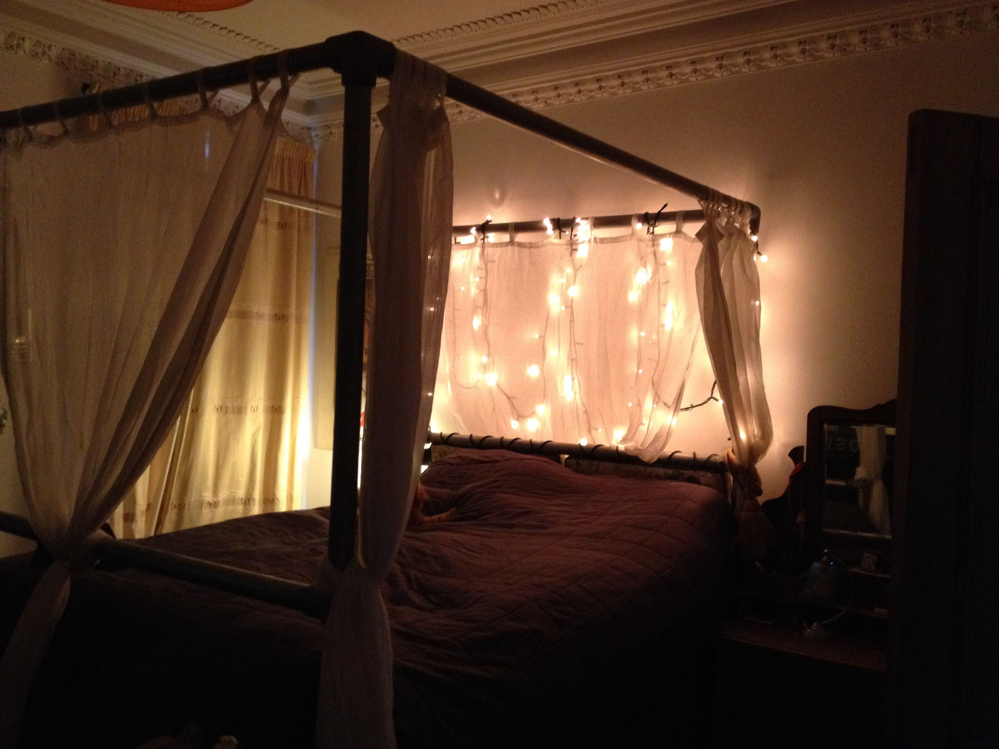 Fairy Lights On The Scaffolding Bed Birthday Bash