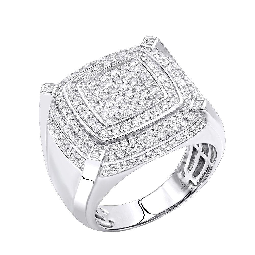 0e63625a48e96f Luxurman 10K Gold Mens Diamond Ring 1.85ct Pinky Ring | Men stuff ...