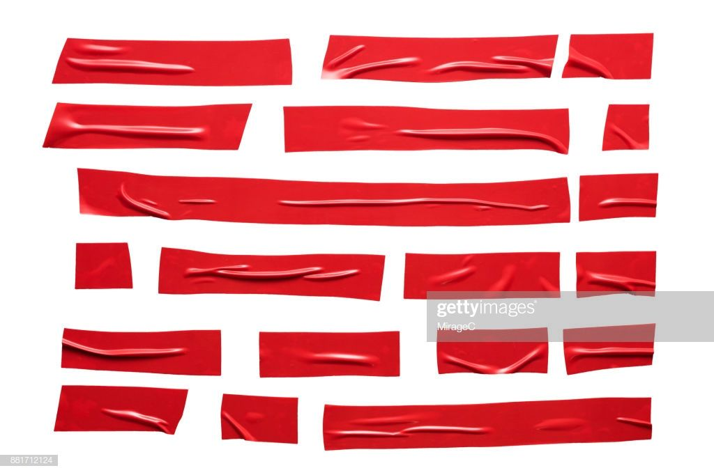 Red Colored Duct Tape Stripes On White Background Direct Above View Texture Graphic Design Packaging Design Trends Sports Graphic Design