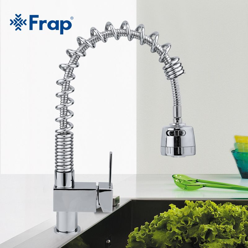 Frap Pull Down Kitchen Faucet Wholesale Solid Brass Swivel Pull Out ...