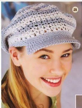 Padrões e moldes crochet tampas de malha com seis modelos