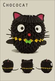 Image Result For 3d Origami Cat Modular Instructions