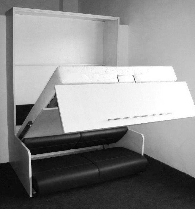 Epingle Par Inside75 Sur Armoires Lits Escamotables Armoire Lit Escamotable Lit Escamotable Et Mobilier De Salon