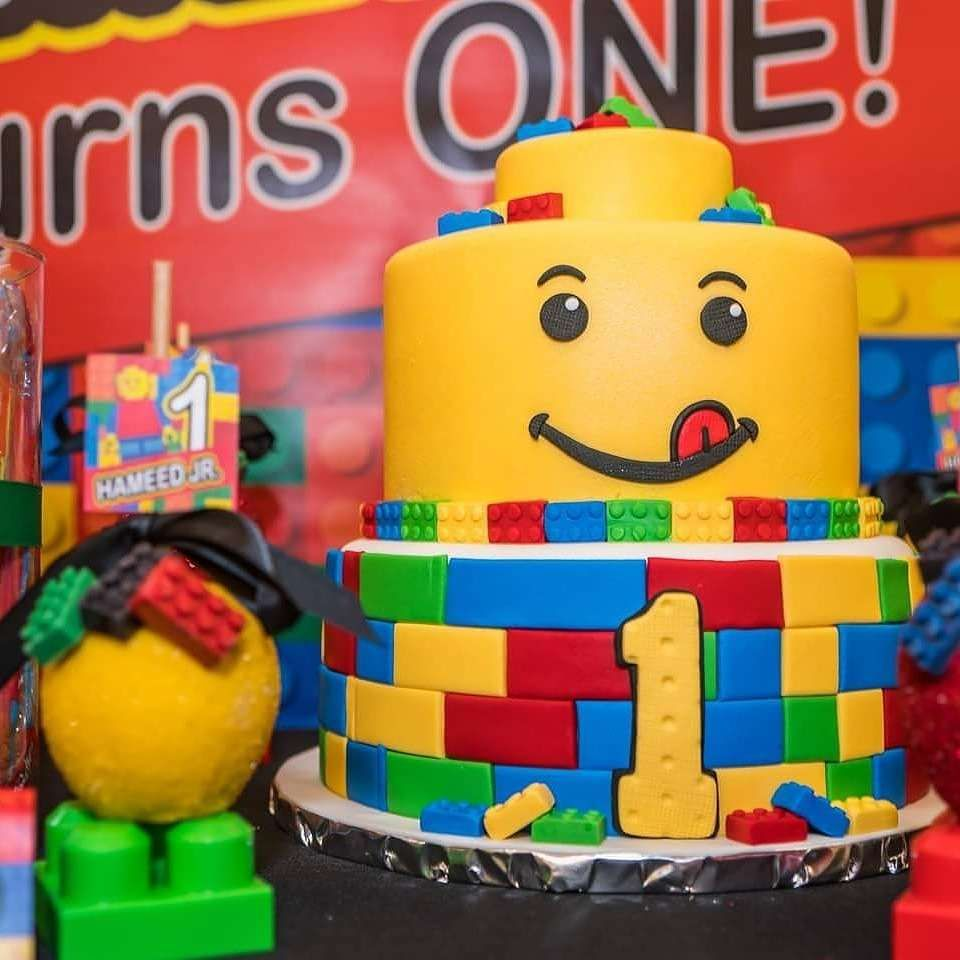 Lego Inspired 1st Birthday Party Birthday Party Ideas With Images