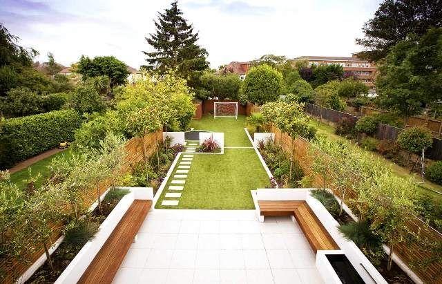 Lange smalle tuin ontwerpen huis decoratie ideeen interessante lange