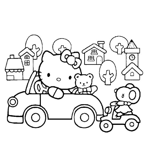 Aneka Mewarnai Gambar Hello Kitty Aneka Mewarnai Gambar Warna Hello Kitty Gambar