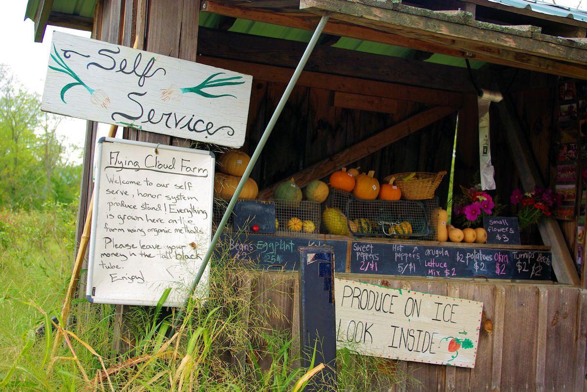 Farm stand along a NC mountain road near Chimney Rock