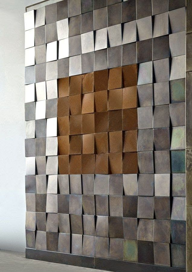 Eye For Design: Decorate With Industrial Metal Walls | Art